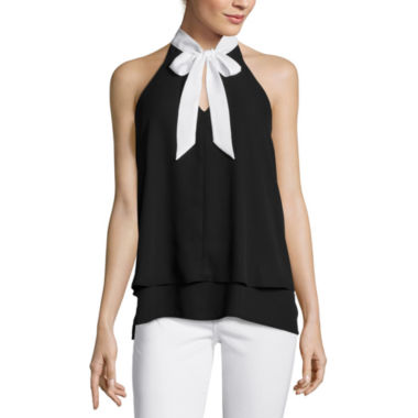jcpenney.com | Belle + Sky™ Sleeveless Bow Tie Blouse