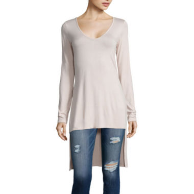 jcpenney.com | Belle + Sky™ Long-Sleeve Side-Slit Tunic
