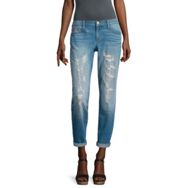 jcpenney.com | BELLE + SKY™ Destructed Boyfriend Jeans