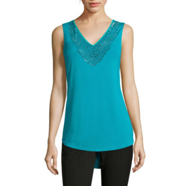 jcpenney.com | Worthington® Sleeveless Embellished Blouse
