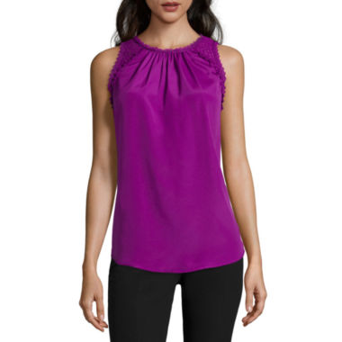 jcpenney.com | Worthington® Lace & Ruffle Tank Top - Tall