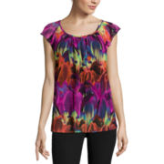 Worthington® Flutter-Sleeve Top