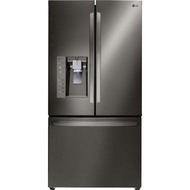 jcpenney.com | LG 23.7 cu. ft. 3-Door French Door Counter-Depth Refrigerator