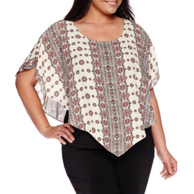 jcpenney.com | Alyx® Short-Sleeve Poncho with Tank Top - Plus