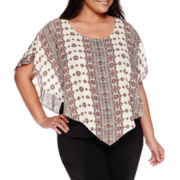 Alyx® Short-Sleeve Poncho with Tank Top - Plus
