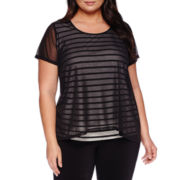 Alyx® Short-Sleeve Popover Top - Plus
