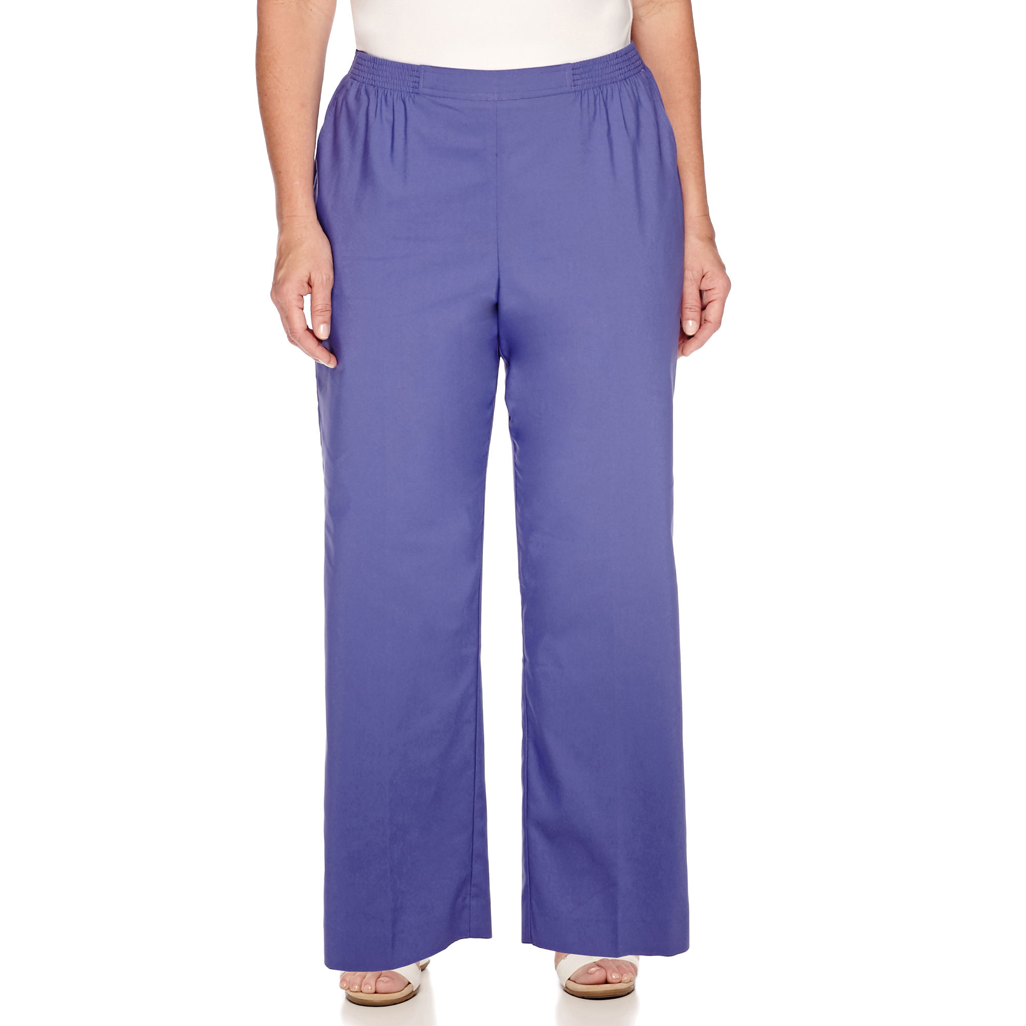 Alfred Dunner Cyprus Pull-On Cropped Pants- Plus