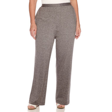 jcpenney.com | Alfred Dunner® Acadia Flat-Front Pull-On Pants - Plus