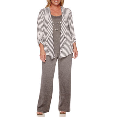 jcpenney.com | Alfred Dunner® Acadia 3/4-Sleeve Top or Flat-Front Pull-On Pants - Plus