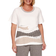 Alfred Dunner® Acadia Short-Sleeve Applique Tee - Plus