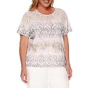 Alfred Dunner® Acadia Short-Sleeve Ribbon Tee - Plus