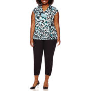 Liz Claiborne® Sleeveless Deep V-Neck Top or Emma Fall Ankle Pants - Plus