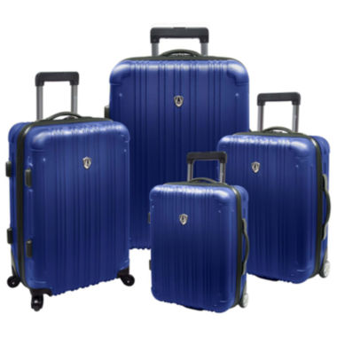 jcpenney.com | Traveler's Choice® New Luxembourg 4-pc. Expandable Hardsided Luggage Set