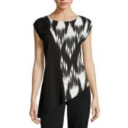 Worthington® Sleeveless Asymmetrical Blouse