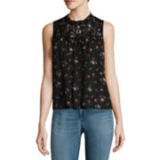 Arizona Sleeveless Lace High-Neck Top or Luxe Destruction High-Rise Leggings - Juniors