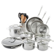 Calphalon® Tri-Ply 13-pc. Stainless Steel Cookware Set + BONUSES