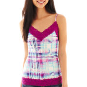Decree® Knit Lace-Trim Cami