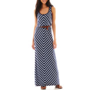 Trixxi® Striped Belted Maxi Dress