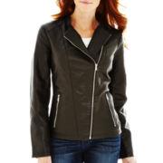 Worthington® Faux-Leather Moto Jacket