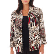 Alfred Dunner® Belize Animal Patchwork Jacket