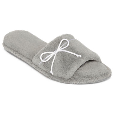 jcpenney.com | Dearfoams® Open-Toe Terry Slippers