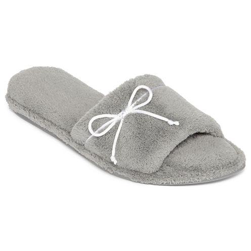 Dearfoams® Open-Toe Terry Slippers