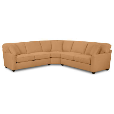 jcpenney.com | Fabric Possibilities Sharkfin-Arm 3-pc. Left-Arm Loveseat Sectional with Sleeper