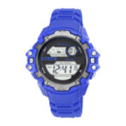 Armitron® ProSport Mens Blue Resin Chronograph Digital Watch 40/8316BLU