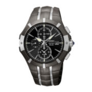 Seiko® Mens Two-Tone Stainless Steel Solar Chronograph Watch