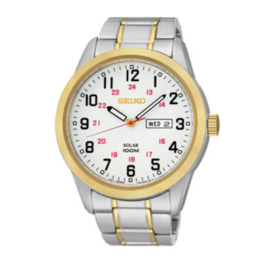 jcpenney.com | Seiko® Mens Two-Tone Solar Dress Watch SNE370