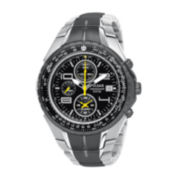 Pulsar® Mens Silver-Tone Chronograph Watch