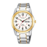 Pulsar® Mens Two-Tone Railroad Accuracy Watch PJ6008