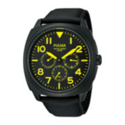 Pulsar® Mens Yellow-Accent Chronograph Watch