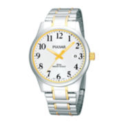 Pulsar® Mens Two-Tone Watch