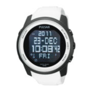 Pulsar® Mens White Digital Watch
