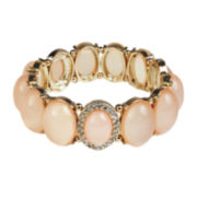 Mixit™ Gold-Tone Peach Stone Stretch Bracelet