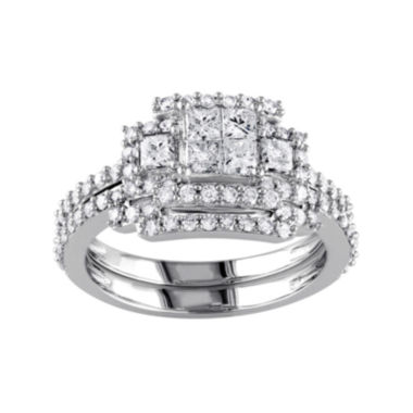 jcpenney.com | 1 1/5 CT. T.W. Diamond 14K White Gold Bridal Ring Set