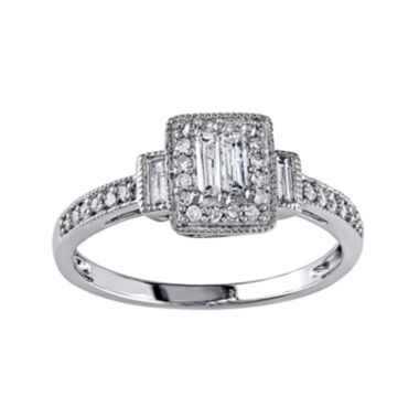 jcpenney.com | 1/3 CT. T.W. Diamond 10K White Gold Ring