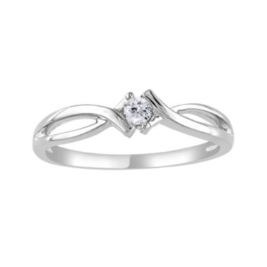 jcpenney.com | 1/10 CT. Diamond Solitaire 10K White Gold Ring