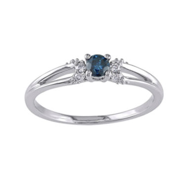 jcpenney.com | 1/5 CT. T.W. White and Color-Enhanced Blue Diamond Ring