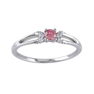 jcpenney.com | 1/5 CT. T.W. White and Color-Enhanced Pink Diamond Ring