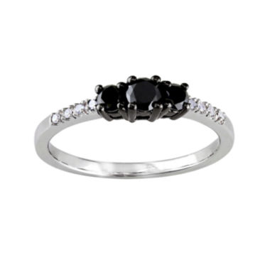 jcpenney.com | Midnight Black Diamond 1/2 CT. T.W. Color-Enhanced Black Diamond 10K White Gold Engagement Ring