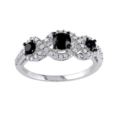 jcpenney.com | Midnight Black Diamond 1 CT. T.W. White & Color-Enhanced Black Diamond 10K White Gold 3-Stone Ring