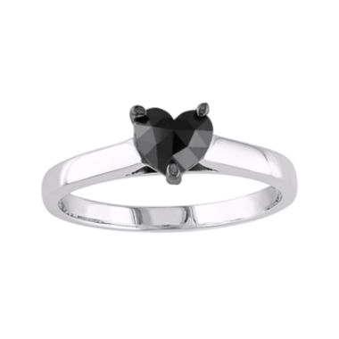 jcpenney.com | Midnight Black Diamond 1/2 CT. Color-Enhanced Black Diamond 10K White Gold Ring