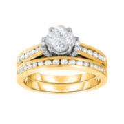 Harmony Eternally in Love 1 CT. T.W. Certified Diamond 14K Yellow Gold Bridal Set