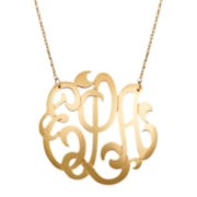 Personalized 12K Gold-Filled 25mm Monogram Necklace