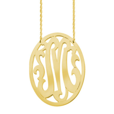 jcpenney.com | Personalized Gold-Filled 48mm Oval Monogram Necklace