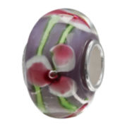 Forever Moments™ Blue Floral Glass Bead