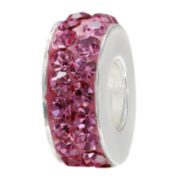 Forever Moments™ Pink Crystal Spacer Bead