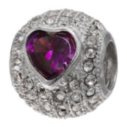 Forever Moments™ Purple Crystal Heart Bead